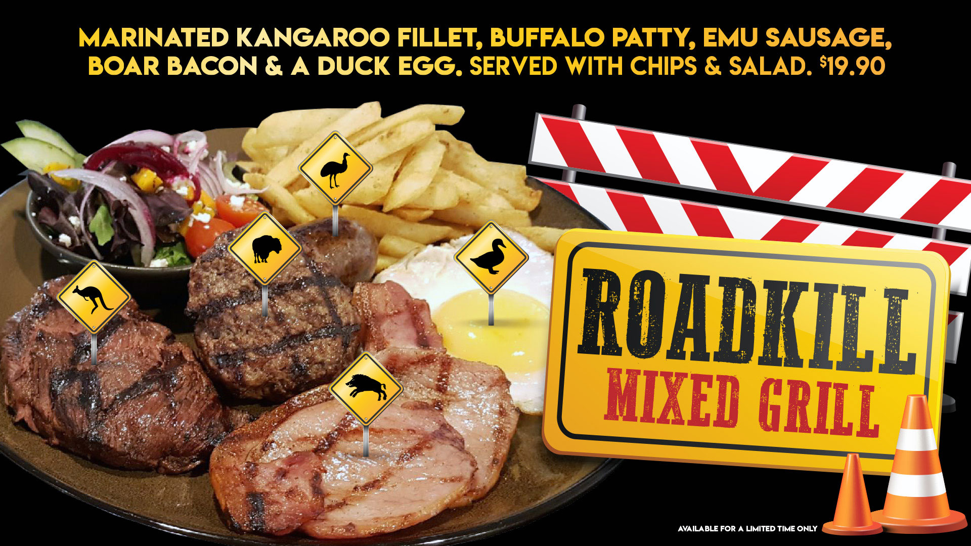 September Roadkill Mixed Grill at Gowrie Road Hotel